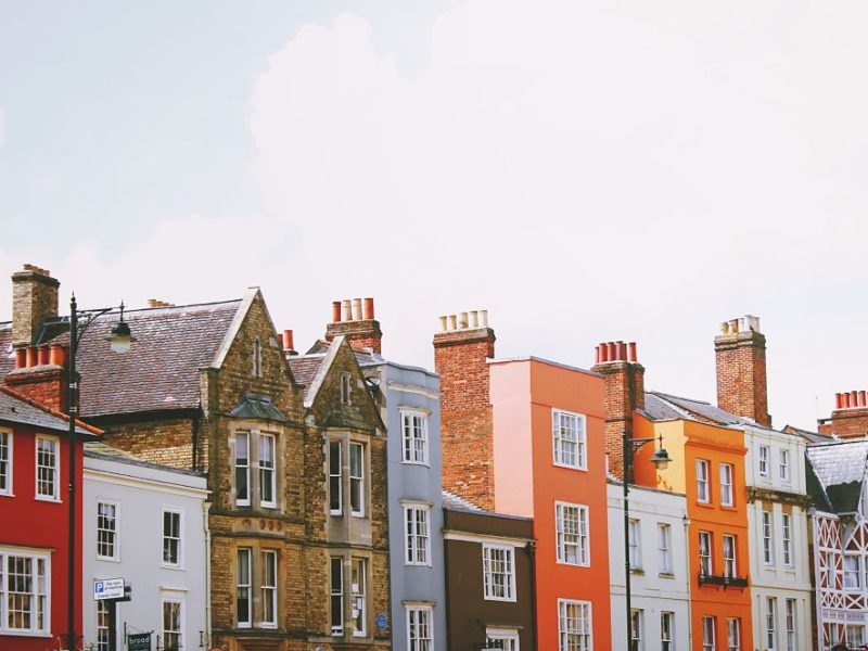 houses rooftops
