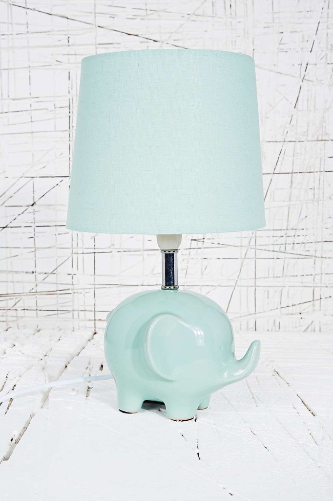 urban outfitters mint elephant lamp