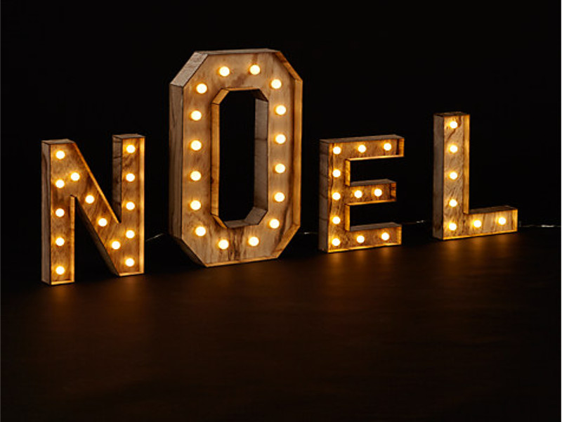 noel sign john lewis christmas lights