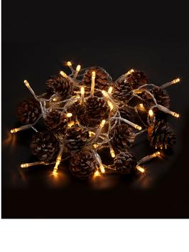 littlewoods pinecone christmas lights