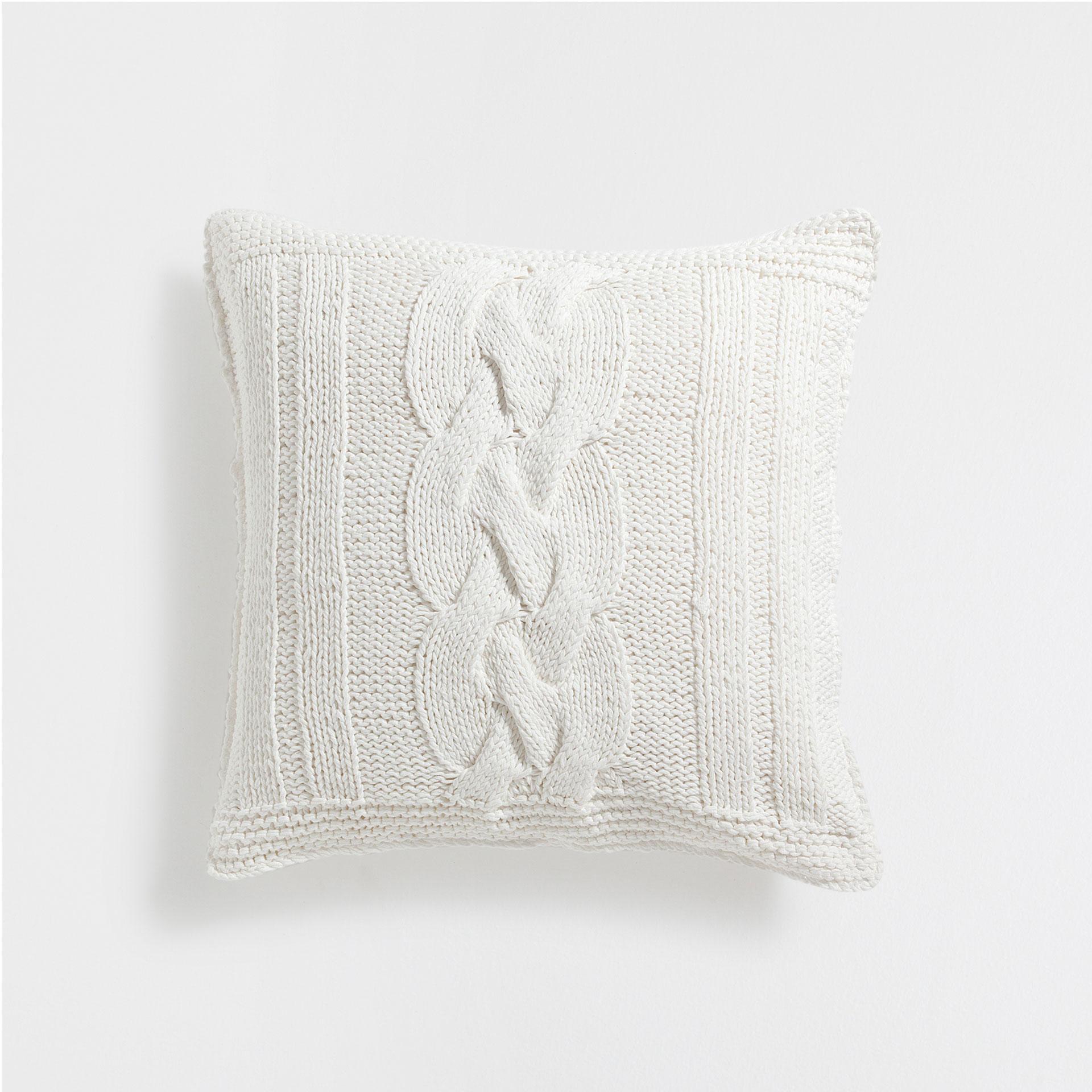 zara home knit cushion