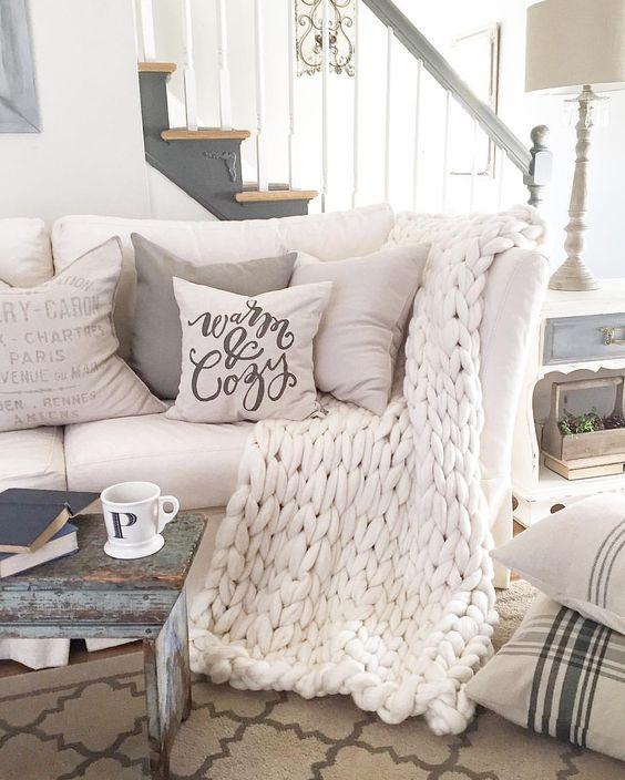 hygge cozy living room pinterest soft furnishings